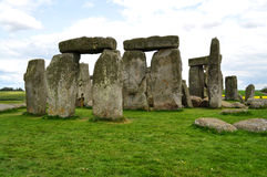 Stonehenge monoliths on a bright day2. The stone monoliths from the neolitic era located in Wiltshire, UK royalty free stock images