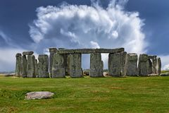 Stonehenge, Monument, Air, Clouds Royalty Free Stock Photos