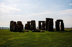 Stonehenge monument at Salisbury planes. England royalty free stock photos