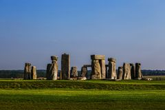 Stonehenge monument at Salisbury planes. England royalty free stock photo