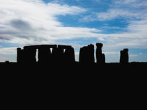 Stonehenge monument silhouette Royalty Free Stock Image