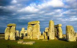 Stonehenge, monumento di pietra preistorico antico immagine stock libera da diritti
