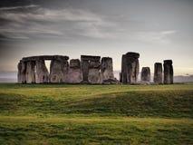 Stonehenge - monumento prehist?rico de la HERENCIA INGLESA imagen de archivo libre de regalías