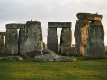 Stonehenge - monumento preistorico di EREDIT? INGLESE fotografie stock libere da diritti