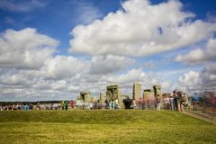 Stonehenge nel Wiltshire, Regno Unito fotografie stock libere da diritti