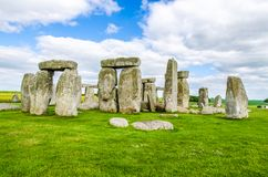 Stonehenge nella pianura di Salisbury Immagini Stock