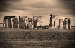 Stonehenge nella seppia immagini stock