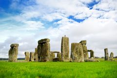 Stonehenge, one of the wonders of the world and the best-known prehistoric monument in Europe, located in Wiltshire, England. UK stock photo