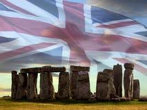 Stonehenge på den Salsbury plainen - England. Royaltyfria Bilder