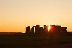 Stonehenge på solnedgången Arkivbilder