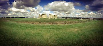 Stonehenge panorámico Imagenes de archivo