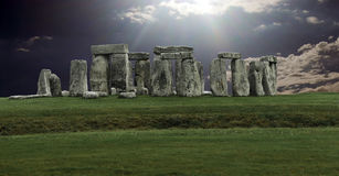 Stonehenge panorama Stock Images