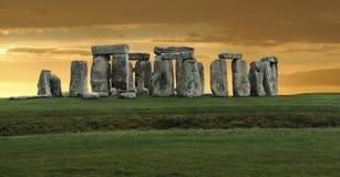 Stonehenge Panorama lizenzfreie stockfotografie
