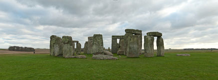 Stonehenge panorama Stock Photography
