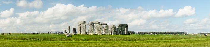 Stonehenge. Panoramic view. Prehistoric stone monument near Sali Stock Images