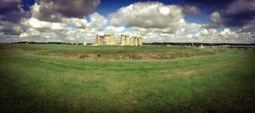 Stonehenge panoramico Immagini Stock