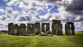 Stonehenge HDR. A photo of Stonehenge on a sunny day Stock Photos
