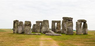 Stonehenge, planícies de Salisbúria, Inglaterra central Imagem de Stock