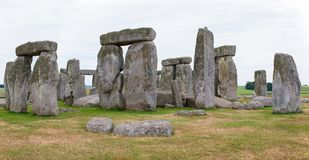 Stonehenge, planícies de Salisbúria, Inglaterra central Fotos de Stock Royalty Free