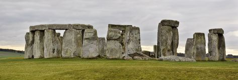 Stonehenge Ruins in England. Stonehenge is a prehistoric druid monument in Wiltshire, England from the neolithic bronze age royalty free stock image