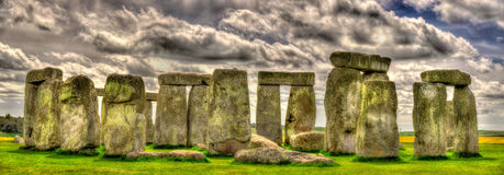 Stonehenge, a prehistoric monument in England Stock Photography