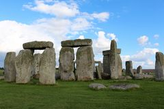 Stonehenge. Is a prehistoric monument.One of the most famous sites in the world,  is the remains of a ring of standing stones set within earthworks royalty free stock photo