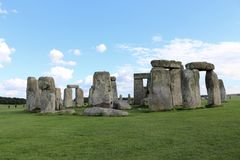 Stonehenge. Is a prehistoric monument.One of the most famous sites in the world,  is the remains of a ring of standing stones set within earthworks stock photo
