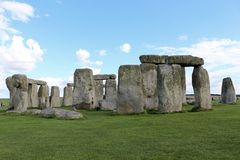 Stonehenge. Is a prehistoric monument.One of the most famous sites in the world,  is the remains of a ring of standing stones set within earthworks stock photos