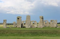 Stonehenge. Is a prehistoric monument.One of the most famous sites in the world,  is the remains of a ring of standing stones set within earthworks stock photography