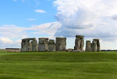 Stonehenge. Is a prehistoric monument.One of the most famous sites in the world,  is the remains of a ring of standing stones set within earthworks royalty free stock photos