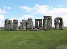 Stonehenge. Is a prehistoric monument.One of the most famous sites in the world,  is the remains of a ring of standing stones set within earthworks royalty free stock photography