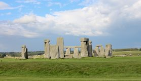 Stonehenge. Is a prehistoric monument.One of the most famous sites in the world,  is the remains of a ring of standing stones set within earthworks stock image