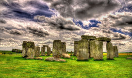 Stonehenge, a prehistoric monument in Wiltshire Royalty Free Stock Photos