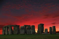 Stonehenge prehistoric monument. Stonehenge is a prehistoric monument in Wiltshire, England, 2 miles west of Amesbury. It consists of a ring of standing stones royalty free stock photography