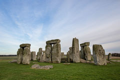 The Historical Stonehenge. Stonehenge is a prehistoric monument in Wiltshire, England, about 2 miles west of Amesbury and 8 miles north of Salisbury. One of the royalty free stock images