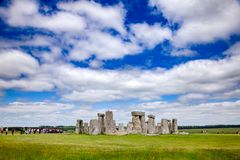 Stonehenge prehistoric monument Wiltshire South West England UK. Standing megalith stones of ancient prehistoric monument Stonehenge in Wiltshire, South West royalty free stock image