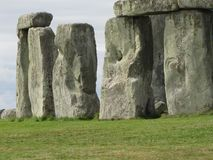 Stonehenge --a prehistoric standing stone monument located in England. Views of the famous prehistoric standing stone monument called Stonehenge, located in royalty free stock image