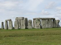 Stonehenge --a prehistoric standing stone monument located in England. Views of the famous prehistoric standing stone monument called Stonehenge, located in stock photography