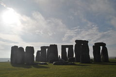 Stonehenge. Prehistorical art in Stonehenge in a sunny day royalty free stock photography