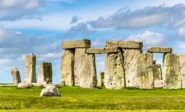 Stonehenge, prehistoryczny zabytek w Wiltshire Obrazy Royalty Free