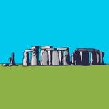 stonehenge Punto di riferimento dell'Inghilterra Monumento megalitico per le cerimonie religiose Immagine di vettore Fotografia Stock Libera da Diritti