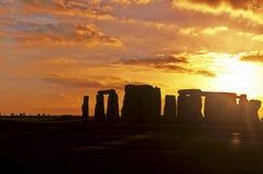 Stonehenge- Regno Unito Fotografia Stock
