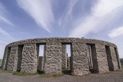 Stonehenge replica in Maryhill Washington. May 2017, Maryhill Washington - The Maryhill Stonehenge is a replica of the original in United Kingdom. It sits Royalty Free Stock Photography