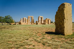 Stonehenge replica at the University of Texas in Odessa Stock Images