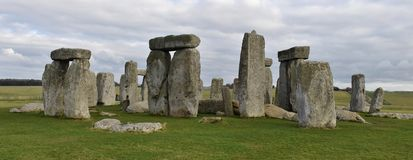 Stonehenge Ruins in England. Stonehenge is a prehistoric druid monument in Wiltshire, England from the neolithic bronze age stock image