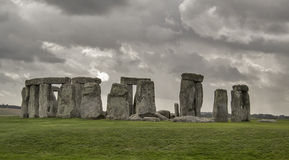 Stonehenge. In Salisbury with dramatic sky in the background stock photos