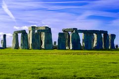 Stonehenge Salisbury Plain Wiltshire England. In the afternoon royalty free stock image