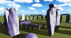 Stonehenge sanctuary Royalty Free Stock Images