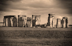Stonehenge In Sepia. Stonehenge in wiltshire world heritage site stock images