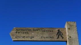 Stonehenge signpost Royalty Free Stock Image